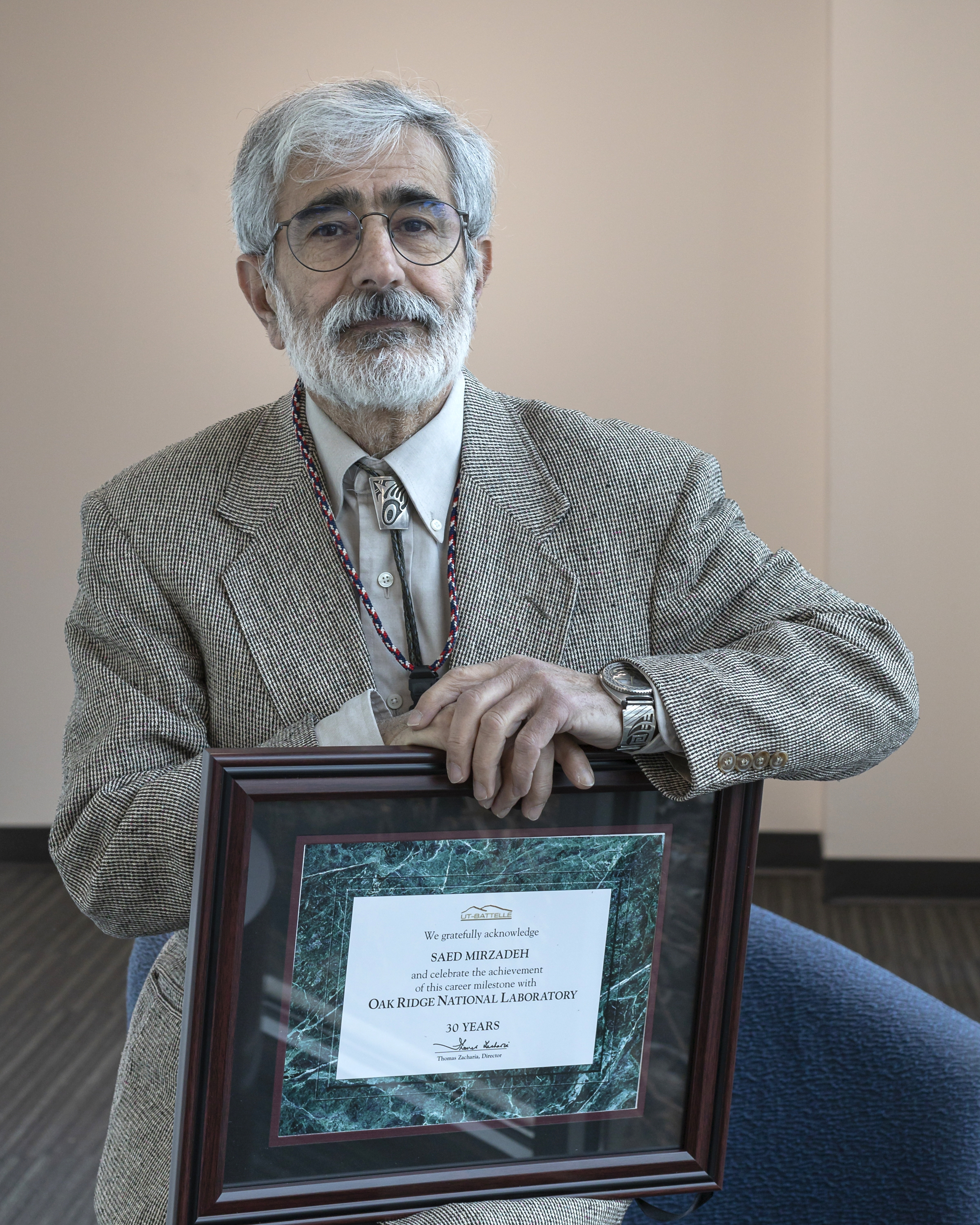 Saed Mirzadeh celebrates 30 years with ORNL