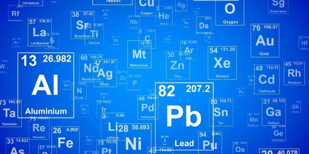 Periodic table of elements background