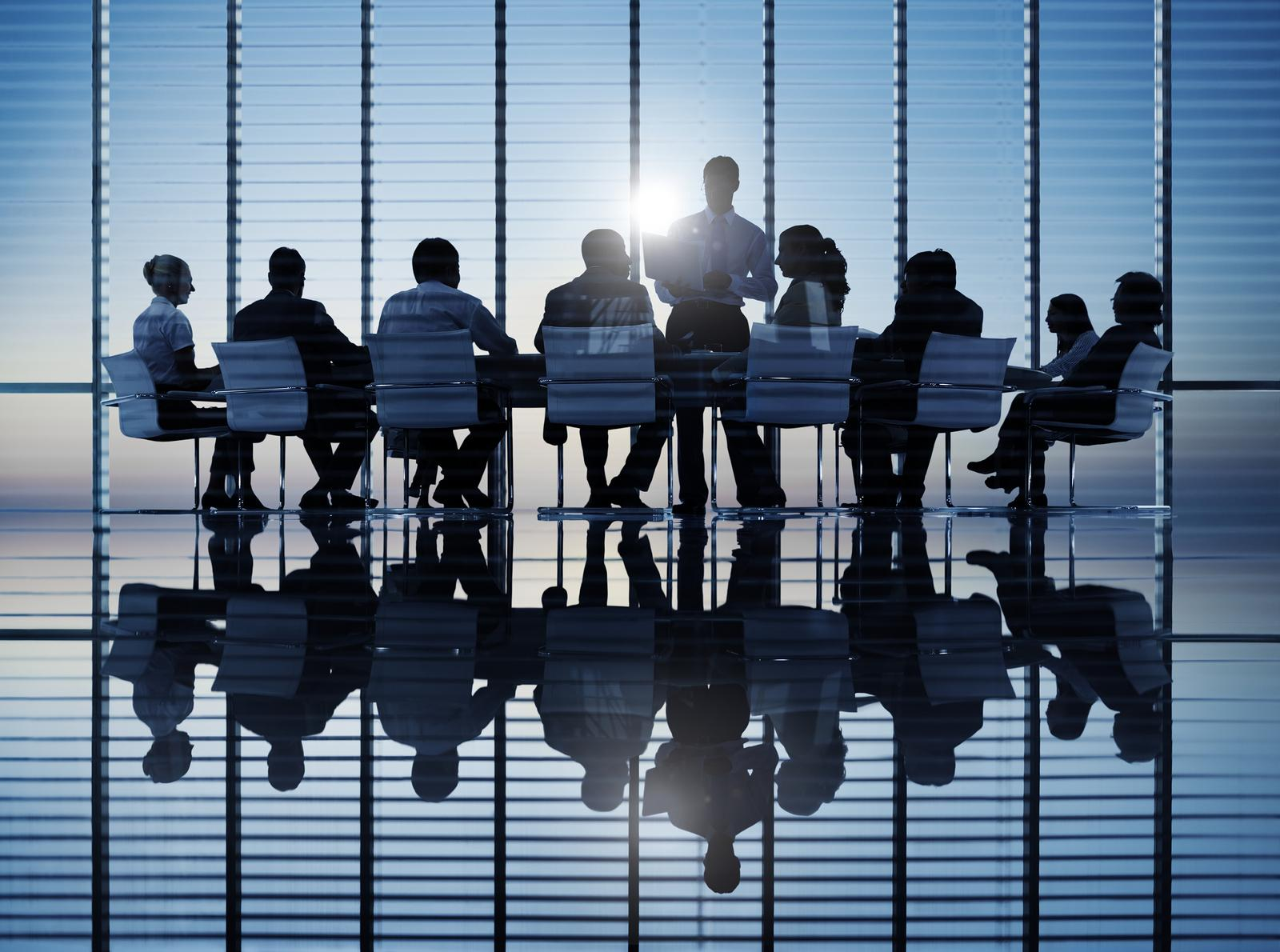 Stock photo of people in a meeting